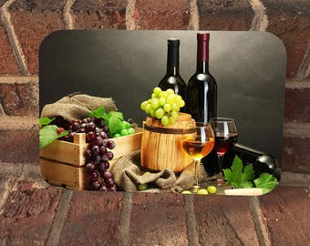 Custom Bright Wine Image/Fruit/Cheese Cutting Boards/Cutting Board/Mothers Day/House Warming Gifts/Glass Cutting Boards