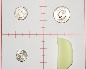 Large Ocean Tumbled Free Form Lime Green Sea Glass Pendant Blank by The Glassy Lass (1 of only 5 pieces)