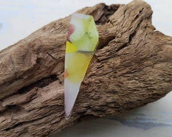 CANDY COLOURED SHARD ~ English Sea Glass ~ Thames Mudlarking Finds ~ Pink Green Yellow ~ Jewelry Supplies