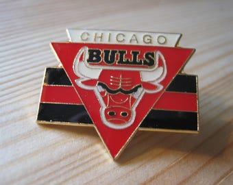 Vintage Chicago Bulls 1987 NBA Lapel/ Hat Pin