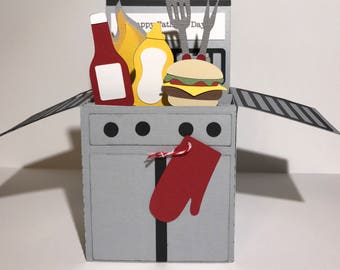 Gas Grill Father's Day card
