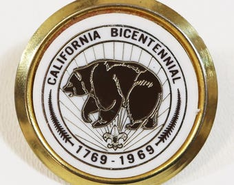 Boy Scouts BSA California Bicentennial 1769-1969 Metal Neckerchief Slide