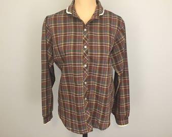 Plaid shirt women | Etsy