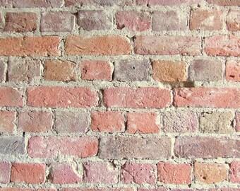 Laminated placemat brick wall