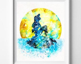 Disney Ariel, Little Mermaid, Girl Nursery, Ariel Print, Little Mermaid Art, Disney Princess, Ariel, Disney Mermaid, Type 4, Valentines Day