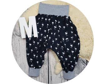 Baby pants, Jersey pants, Mitwachsen pants, harem trousers, harem pants, baby pants, Flamingo, hip, hipster