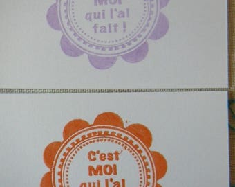 "Tags x 10 decorated on the theme ""handmade"" for scrapbooking and journaling"
