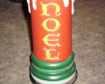 Vintage 1995 Pathway Light Topper - NOEL Candle Blow Mold - Empire
