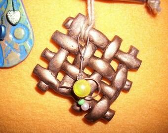 Decorative pendant, ceramic