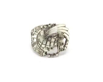comet ring, spoon ring, star ring, halleys comet ring,