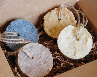 Assorted Soap Gift Set, Natural Soap Gift Set, Soap on a Rope, Soap Set for Men, Gift Box Set for Husband, Husband Gift Set, Christmas