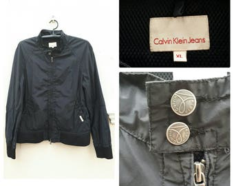 Calvin Klein jacket  CK windbreaker size XL 1990s Calvin Klein Black Jacket XL