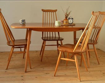 SOLD SOLD Ercol dining table plank kitchen table elm blonde