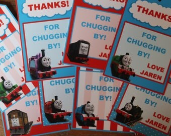 Thomas and Friends Themed - Favor Tags / Thank You Tags - Thomas the Train (Thomas, Percy, James, Diesel, Toby, Emily, Etc.)