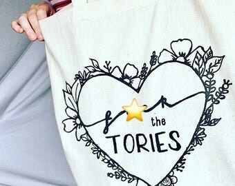 F*ck The Tories - screen printed eco friendly tote bag