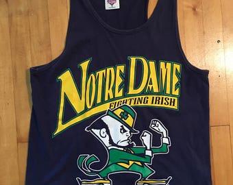Vintage Notre Dame Fighting Irish Tank - Size M