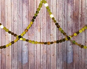 Gold Sequin Party Garland - Birthday, Wedding, Baby Shower, Bridal Shower, Graduation, Holidays, Christmas, St. Patrick's Day