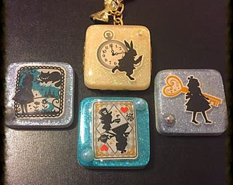 Alice in wonderland (keychain or pendant you choose)