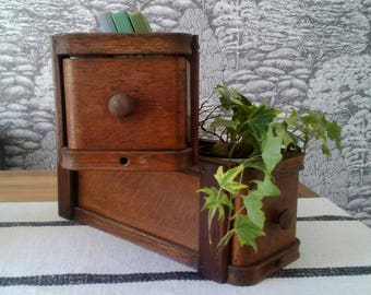 Vintage Treadle Sewing Drawer, Singer Sewing Table Drawer, Sewing Storage, Craft Storage.