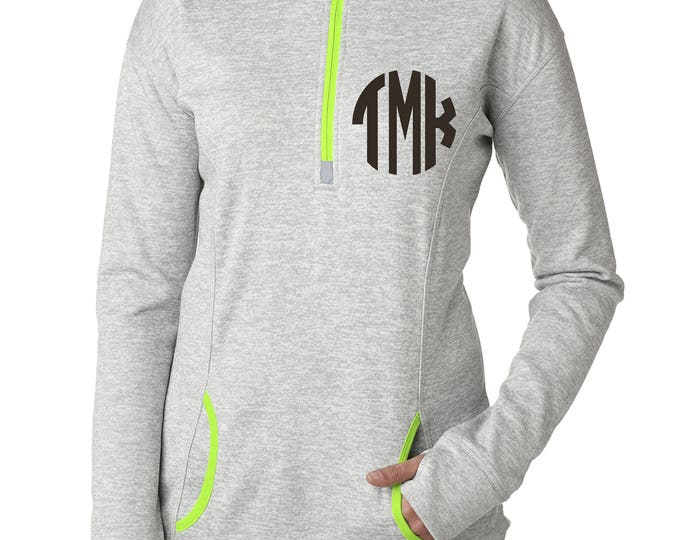 Monogrammed Gift Ideas . Ladies Monogram Shirts . Monogram shirt with thumbholes . Ladies Thumb hole shirt . Long sleeve, fall sweatshirts.