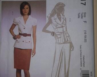 McCall's Pattern Size 16-20  #M5817