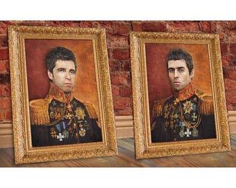 Noel Liam Gallagher Renaissance Portraits A3 PRINTS Limited Edition Oasis Manchester INDIE MOD