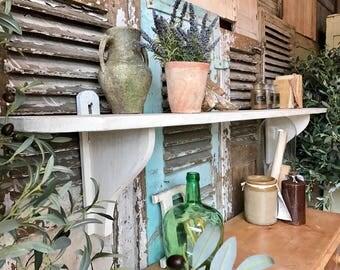 Vintage French rustic Farmhouse shelf