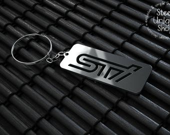Subaru STI Version 2 Keychain
