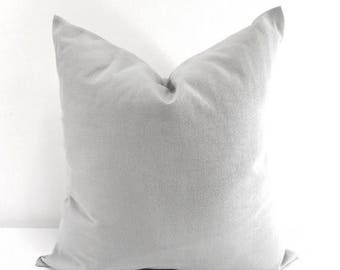 SALE Grey Pillow Cover. Cushion Cover. Solid grey pillow. Sham Pillow case.Select your size.