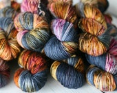 Ready To Ship - Camp Crystal Lake  - Hand dyed - Indie Dyed - Yarn  - Speckled - DK - Sweater Yarn -