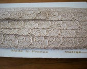 Antique lace retail or wholesale lace french  1920 yardage pure cotton