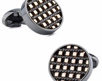 Abstract Checkered Cufflinks
