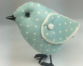 Duck Egg Blue, Fabric Bird