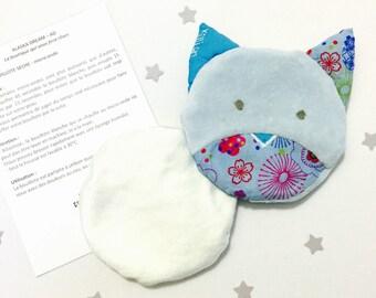 Bouillotte sèche déhoussable pour enfant & bébé,  personnalisable  (prénom, choix des tissus), hygiénique, coton Alaska Dream