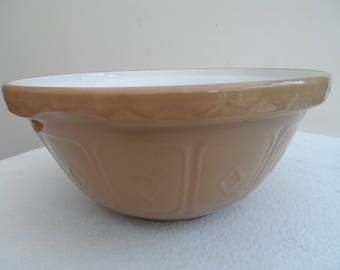 Original vintage Mason Cash Church Gresley Made in England Number 12 Stone Ware Mixing Bowl