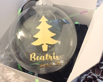 Personalised Christmas Bauble/christmas/bauble/personalised bauble