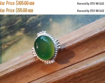 Holiday SALE 85 % OFF Agate Size 7.5 Ring Gemstone. 925 Sterling  Silver