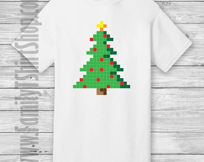 Christmas Tree Pixel T-shirt