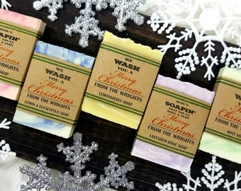 Christmas Soap Favors, Christmas Party Favors For The Office, christmas wedding favors for guests, christmas party gifts,