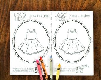 HALF PAGE Tank Dress Color Page