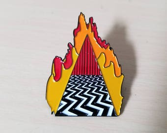 Twin Peaks Pin Dougie Jones Good Luck Charm featuring The Red Room & Mr Jackpots Hello
