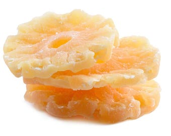 Dried Pineapple Rings (Sweetened) - Low Sugar, No preservatives