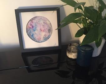 Moon - original watercolor