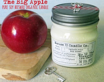 soy wax candle, scent No.32 Manhattan Apartment, The big apple, soy beeswax candle with essential oils, organic soy wax candle, autumn, NYC