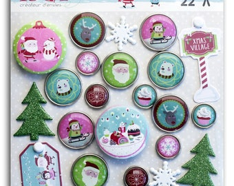 """""""Christmas at North Pole"""" Scrapbooking embellishments"""