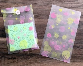 Fancy pink and yellow - set of 250 bags bag pouch