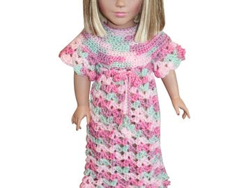 "AG doll clothes, 18"" doll clothes, doll nightgown"