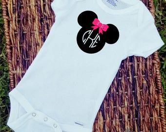 Mini Mouse Monogram/Personalized/Custom/Onesie/Mini&Mickey/Girl/Boy