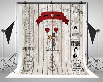 Wedding Wood Wall Blackboard Theme Photography Backdrops Customize Photo Backgrounds for Photocall Studio Props