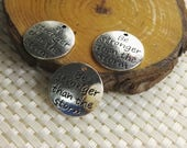 Be stronger than the storm Charms  , Infinity  Charms ,   Quote  Charms , Quote Jewelry , Word Charms , Word Text , Wholesale